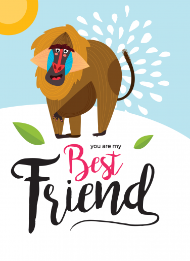 My best friend card design