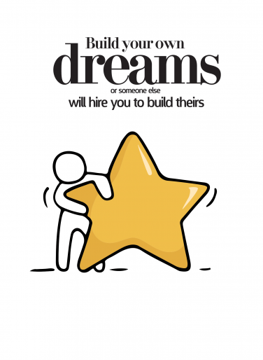 Build your own dreams card design